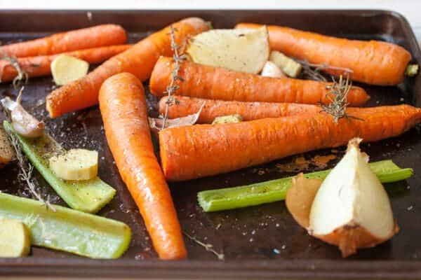 Sheet Pan Carrot Soup