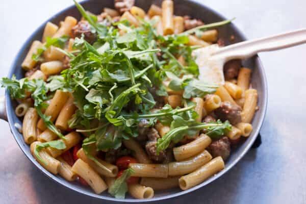 Easy Pesto Pasta with Sausage