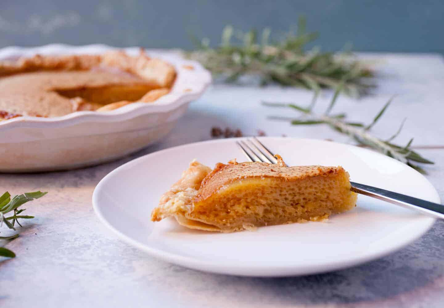 Lavender Honey Pie: This is a simple pie with just a few filling ingredients, but the flavors are deep and rich. It's a pie you might pass over on first glance, but will quickly become a favorite! | macheesmo.com
