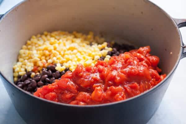 Easy Black Bean Tortilla Soup Recipe ~ Macheesmo
