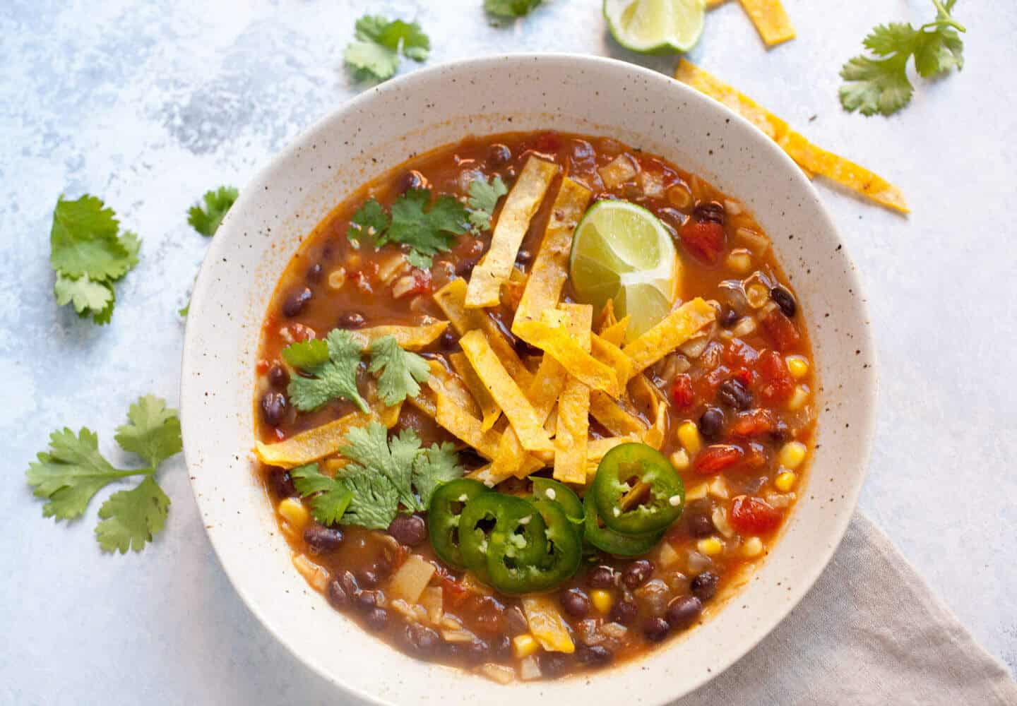 Easy Black Bean Tortilla Soup: When you have no time, but want a ...