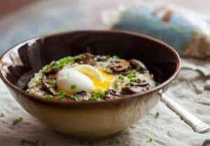 Savory Ginger Mushroom Oatmeal: Savory oatmeal is one of my favorite underrated breakfasts. People are skeptical about it, but once they try it, they will quickly fall in love. This version is packed with mushrooms, ginger, and a perfect soft-boiled egg! | macheesmo.com