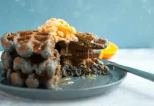 Blue Corn Honey Waffles