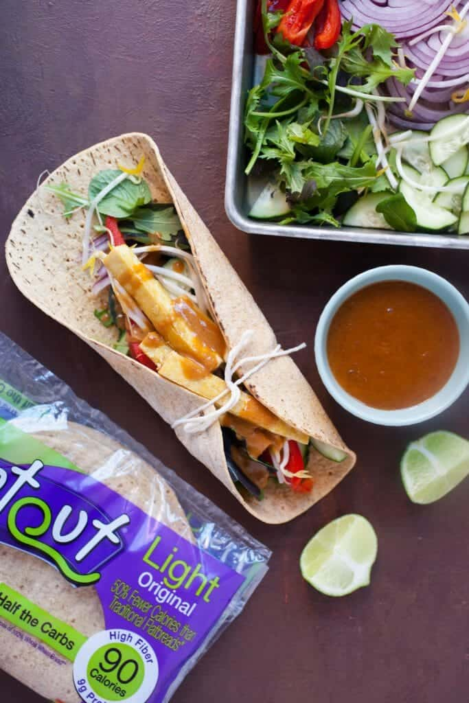 Crispy Tofu Wraps with Spicy Peanut Sauce: These are one of my ...