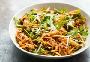 Sun-Dried Tomato Orzo Salad: I don't think you could pack any more flavor into a pasta salad. A great side dish or a really nice weekday lunch option. | macheesmo.com