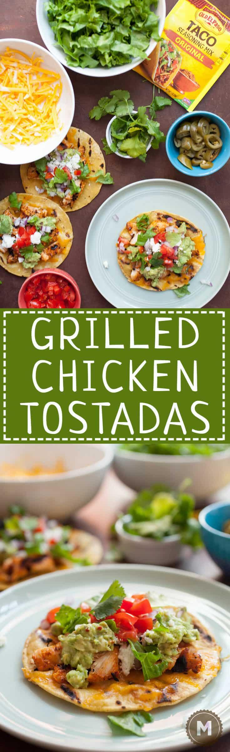Easy Grilled Chicken Tostadas
