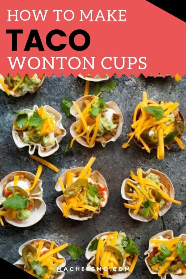 Taco Wonton Cups