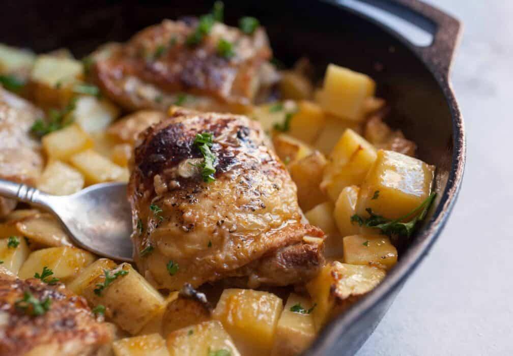 Dijon Braised Chicken Thighs