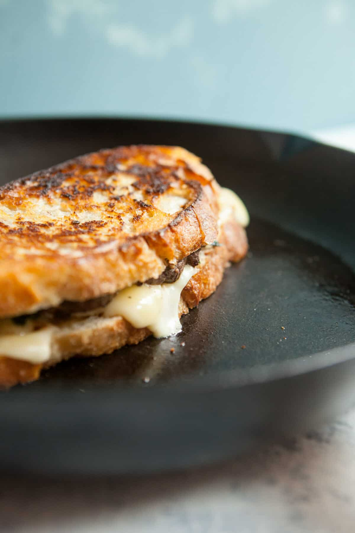 Spinach Fontina Patty Melt