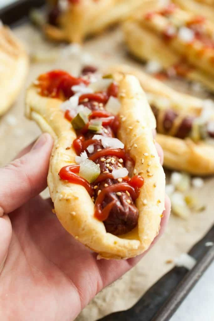 Eclair Hot Dogs: Normally Eclairs are thought of as a dessert, but the dough works fantastically in the savory world also. Believe it or not these aren't that hard to make and WOW are they good. A total winner! | macheesmo.com