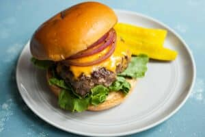 Brown Butter Burgers: These unassuming burgers are seasoned with brown butter, giving them a juicy and nutty flavor. Out of this world delicious! | macheesmo.com