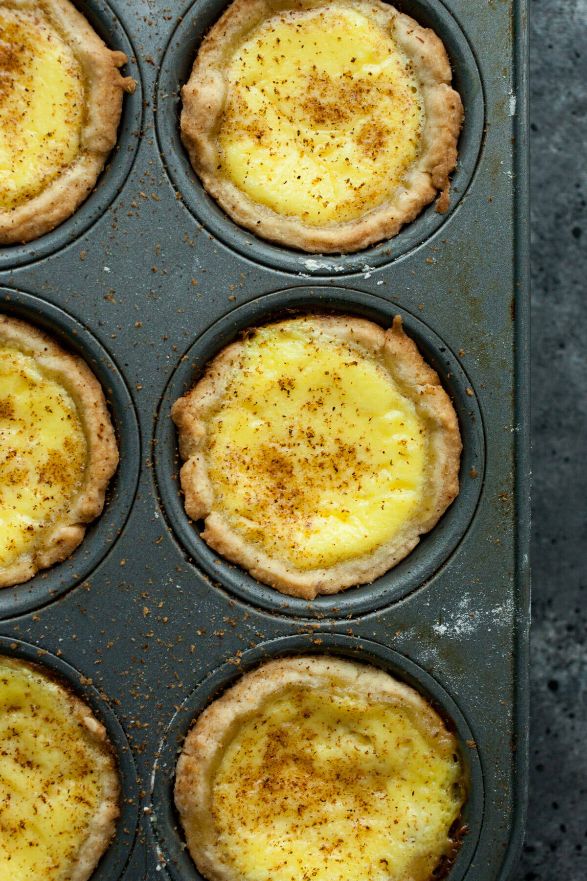 Egg Custard Tarts Baked