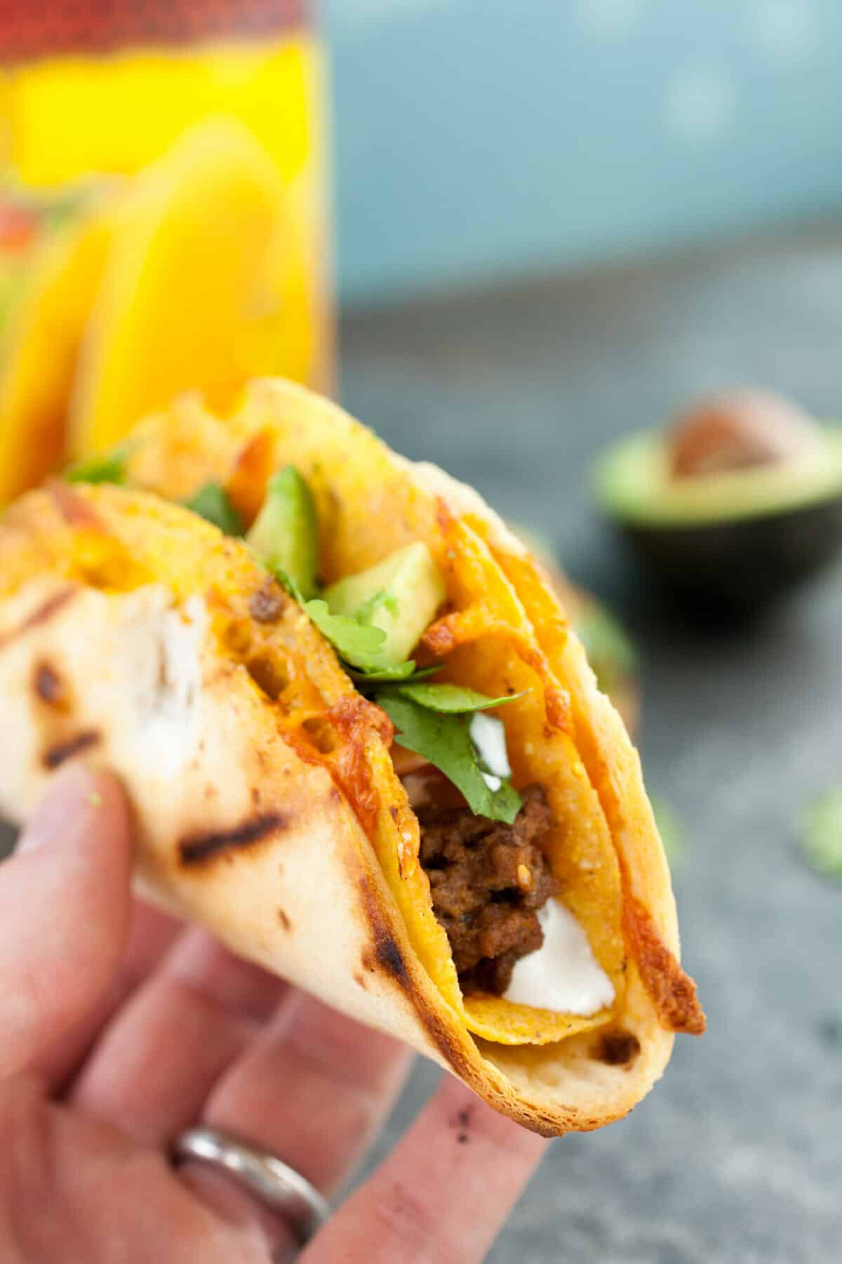 Quesadilla Taco Shells: Want to kick your taco game up a notch this year? Make these delicious quesadilla taco shells and stuff them to your heart's desire! | macheesmo.com