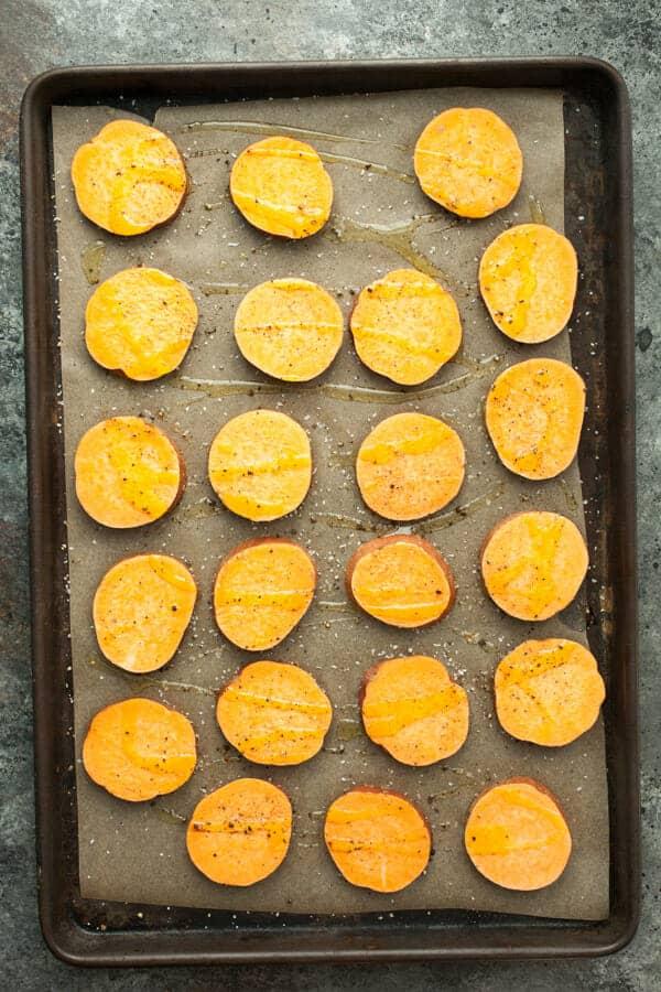 Hummus Sweet Potato Rounds