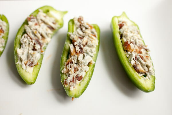 Date and Blue Cheese Jalapeno Poppers