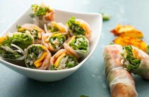 Chili Mango Shrimp Spring Rolls