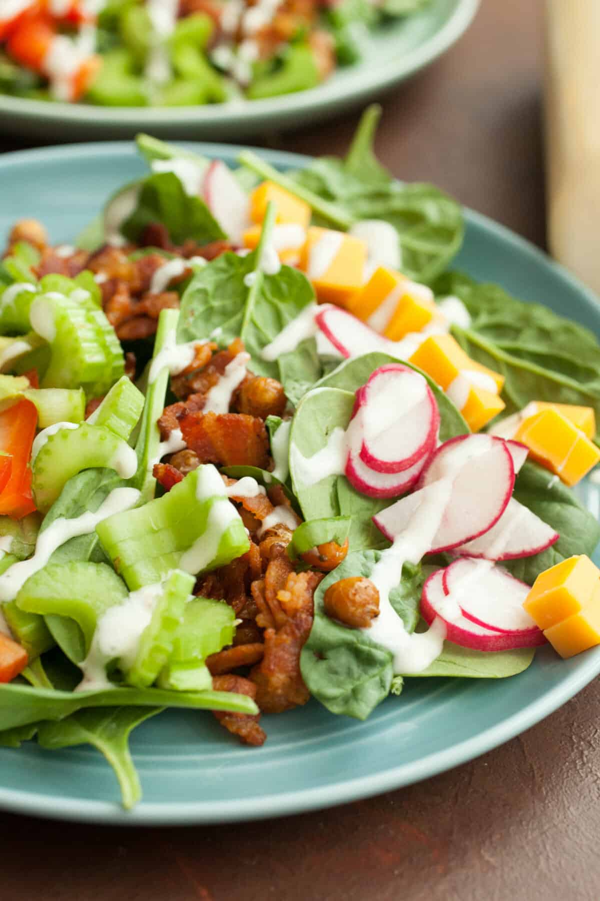 Crispy Chickpea Bacon Ranch Salad