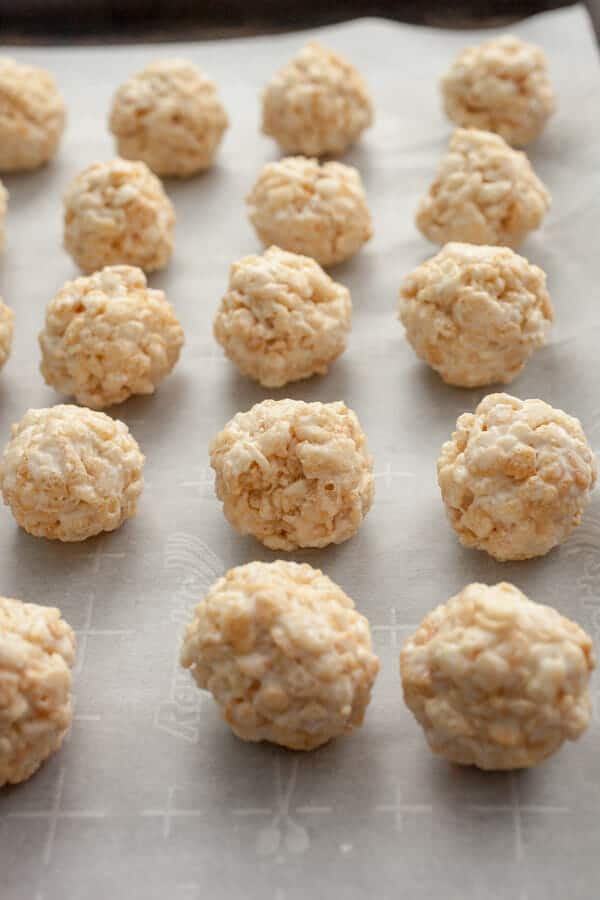 Coconut Rice Krispies Truffles