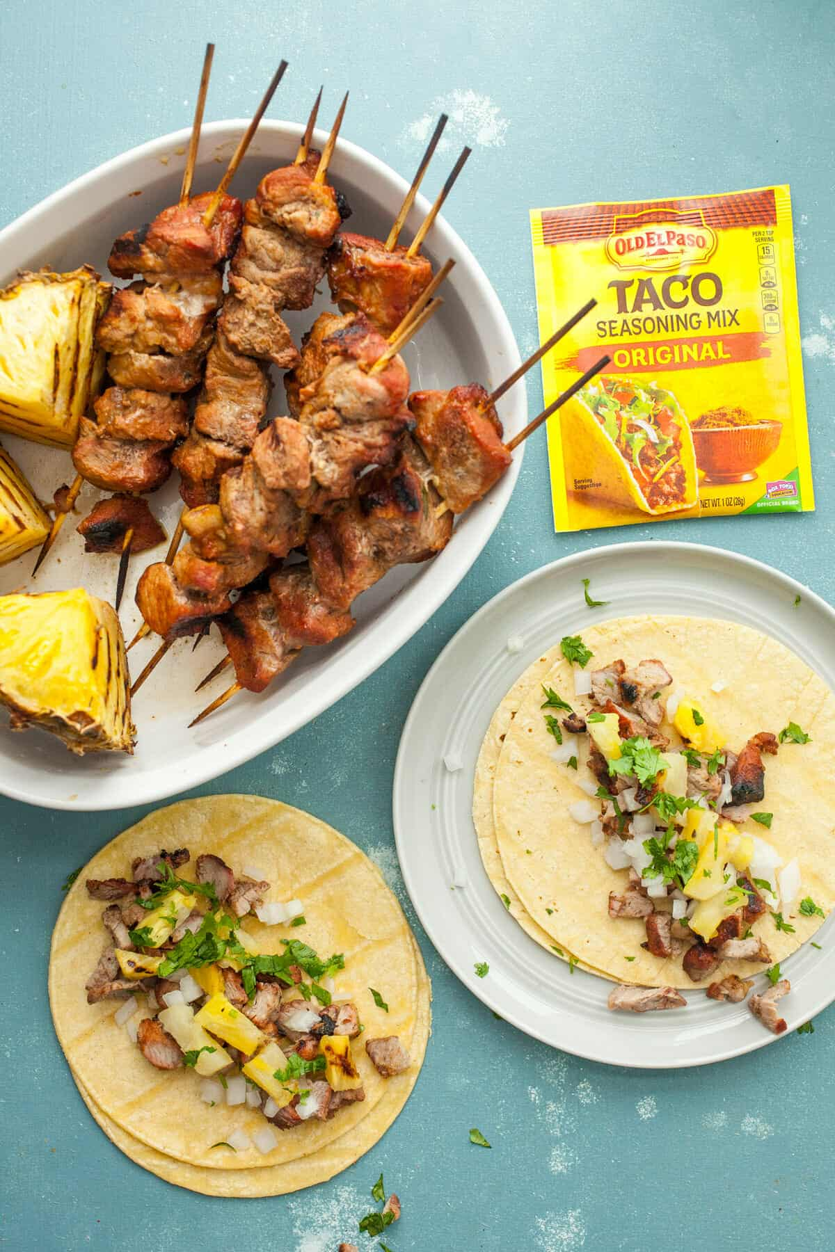 Tacos Al Pastor Kabobs: These marinated pork tacos have all classic flavors of Tacos Al Pastor without so much work. If you're a taco lover, this is a must try! | macheesmo.com