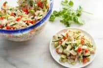 Easy Crab and Avocado Salad: This salad is so light and delicious. It's a perfect appetizer for summer and super easy to toss together. Enjoy! | macheesmo.com