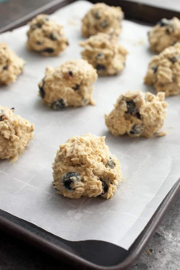 Blueberry Lemon oatmeal cookies