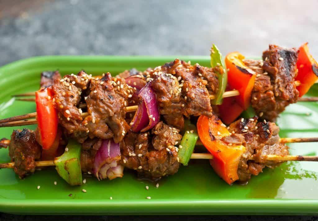 Bulgogi Steak Kabobs Recipe - Perfect for Grilling ~ Macheesmo
