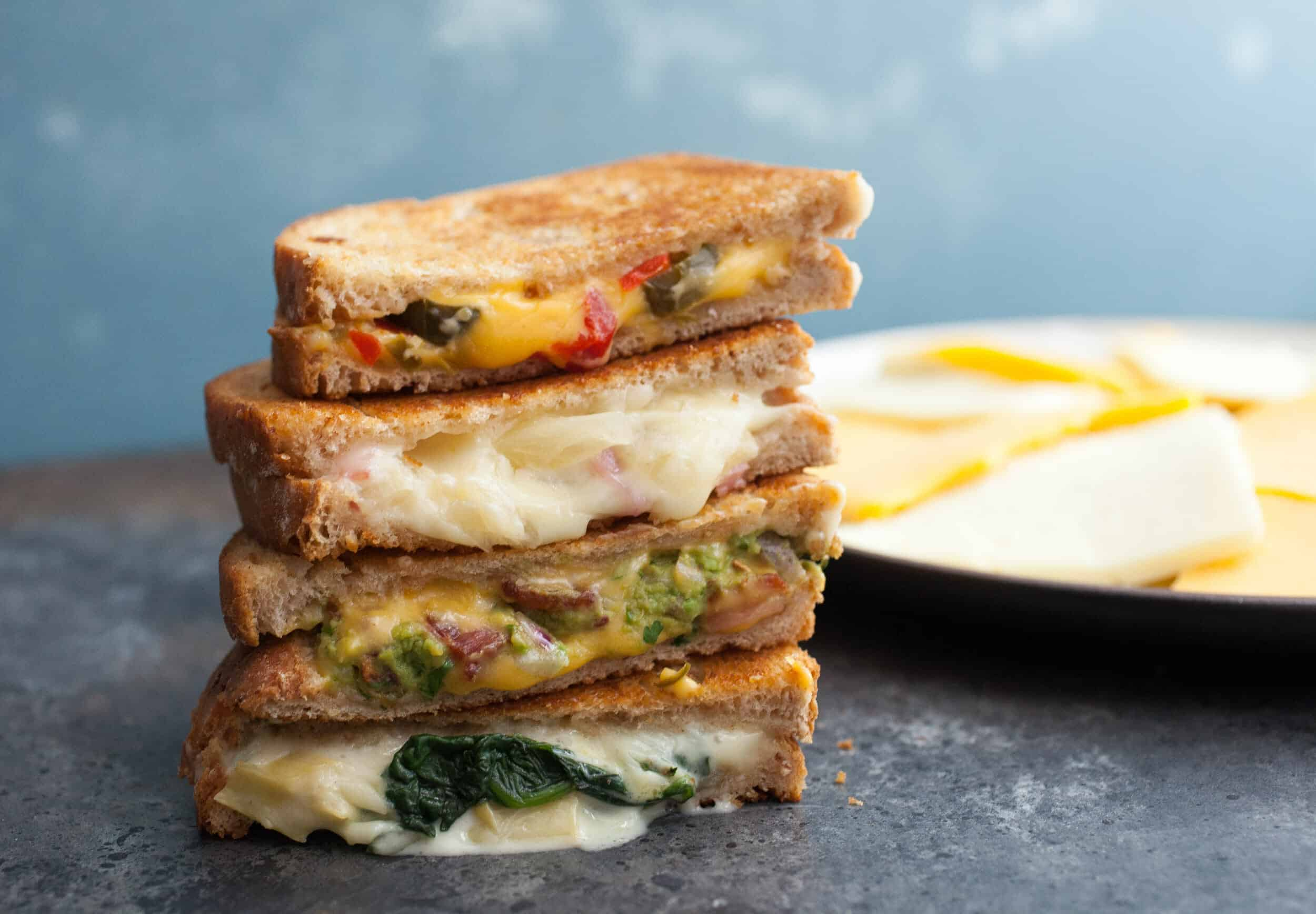 Four Grilled Cheese Sandwiches - Everybody needs a few fun and interesting grilled cheese recipes in their back pocket. These are a few of my favorites! | macheesmo.com
