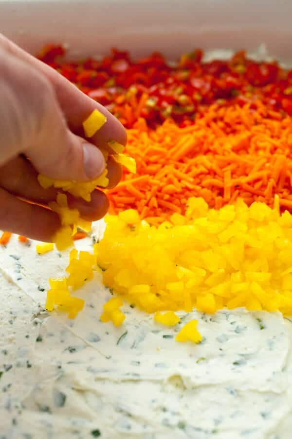 Rainbow Veggie Ranch Dip