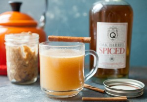Hot Buttered Rum in Jars: The perfect way to make a delicious warm cocktail with almost no work. Also makes great holiday gifts! | macheesmo.com