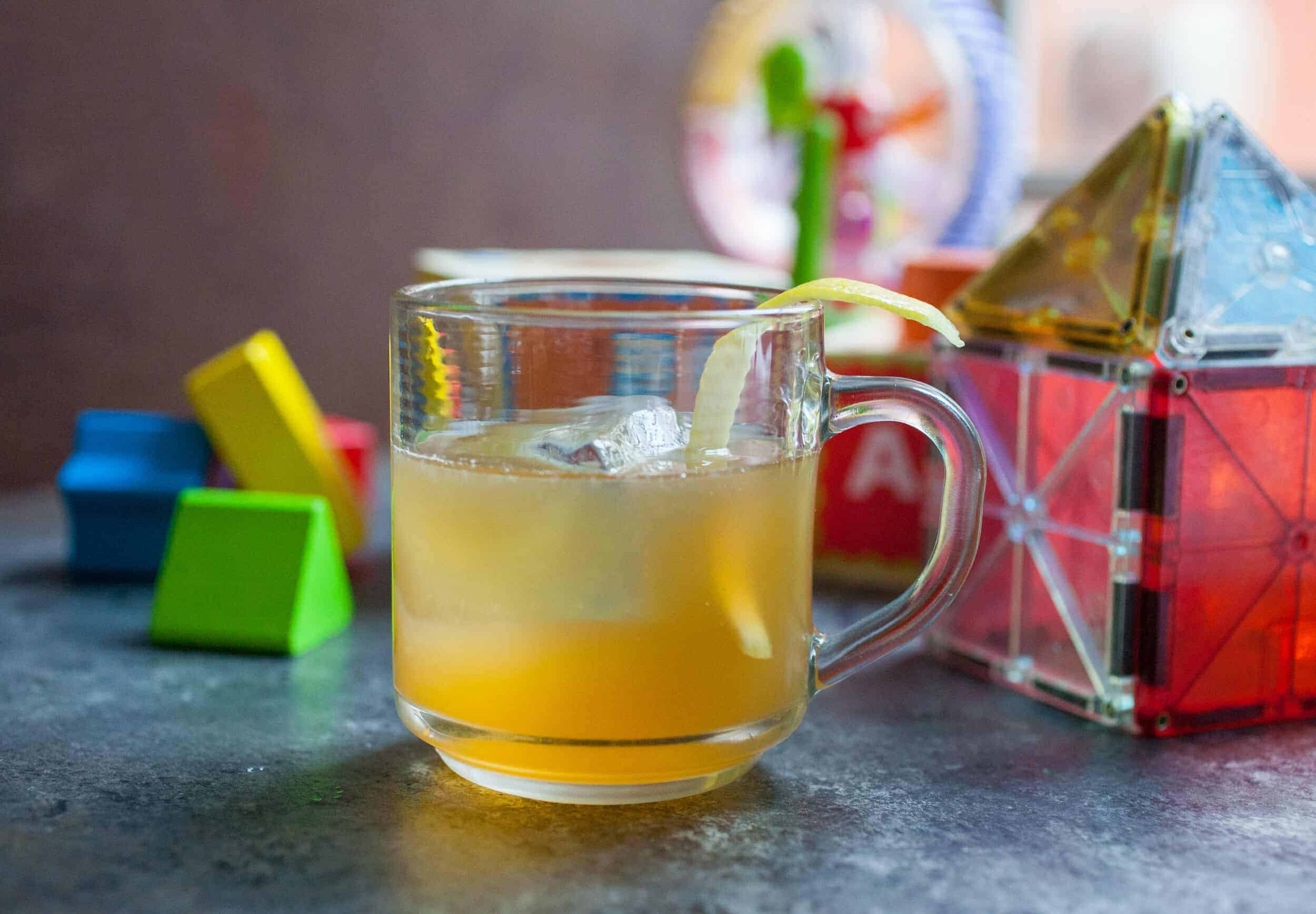 Bourbon honey cocktail: Almost like a hot toddy, but served over ice. Easy to mix up even after a long day and perfect for sipping while cleaning up the day's mess. | macheesmo.com