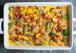 Ultimate Broccoli Cheddar Casserole: After much testing, this is my favorite way to make broccoli casserole. Simple ingredients layered in the right order can make something really delicious! | macheesmo.com