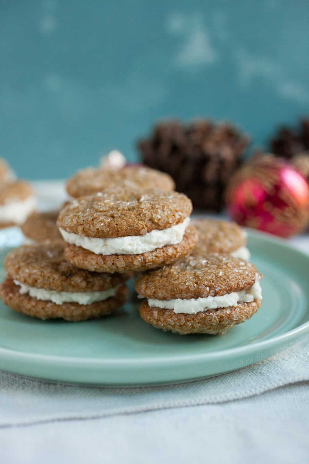 Gingerbread Sandwich Cookies Recipe ~ Macheesmo