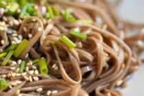 Perfect Soba Noodles with Sesame seeds and scallion