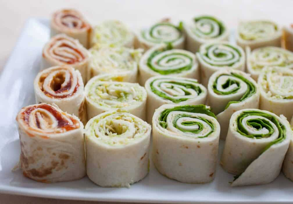 Three Easy Pinwheels: Getting snacks ready for hungry kids can always be a bit of a obstacle course. I like to keep these quick pinwheels at the ready for easy snacks! | macheesmo.com