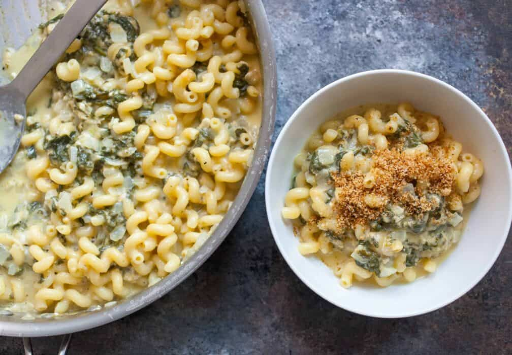 One Pot Spinach Mac and Cheese