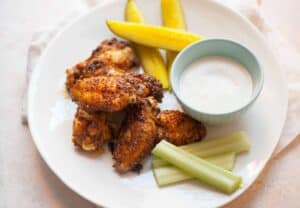 Pickle Brined Chicken Wings: These are your new favorite wings. Trust me! Don't toss out that pickle juice next time you have an empty jar and instead make these wonderful baked wings! | macheesmo.com
