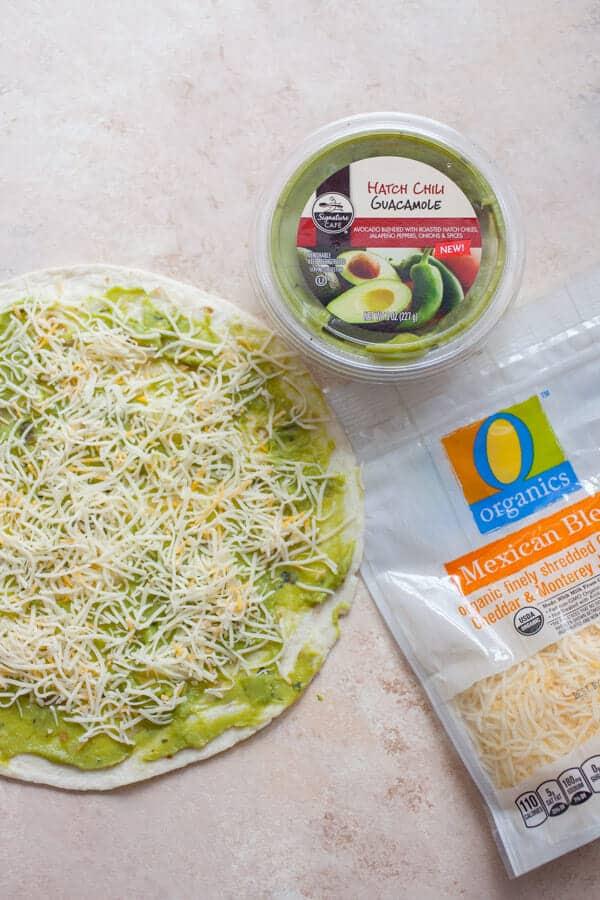 Guacamole and Cheese Pinwheels