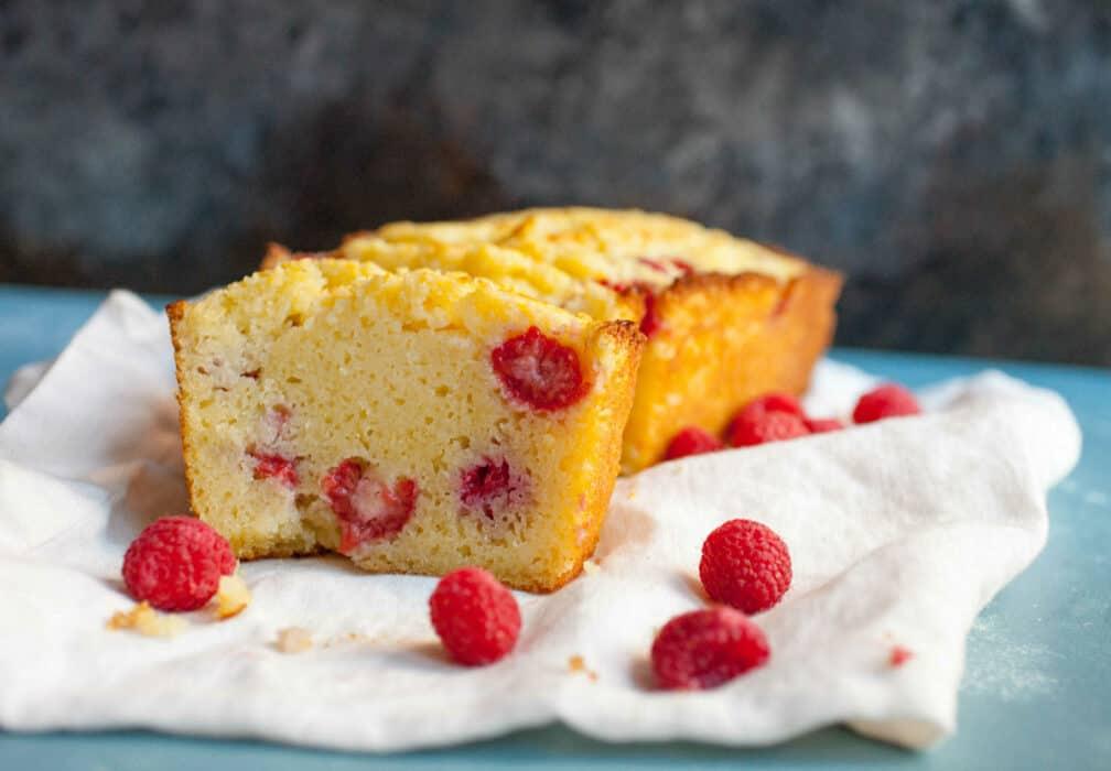 Ricotta Raspberry Pound Cake
