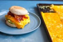 Sheet Pan Breakfast Sandwiches: These are perfect for quick weekday breakfasts and freeze/reheat perfectly. Make them and love them! | macheesmo.com