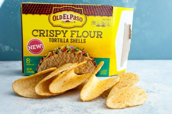 Crispy Flour Taco Shells
