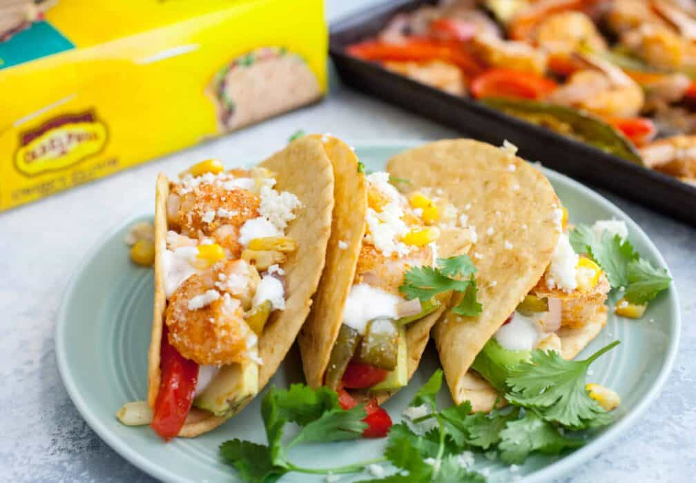 Shrimp Sheet Pan Crispy Tacos