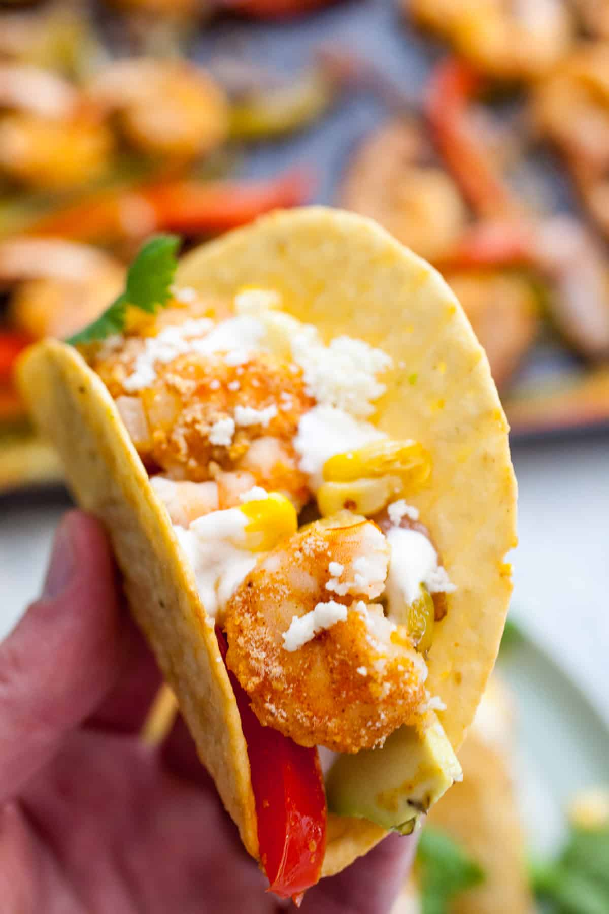 Shrimp Sheet Pan Crispy Tacos