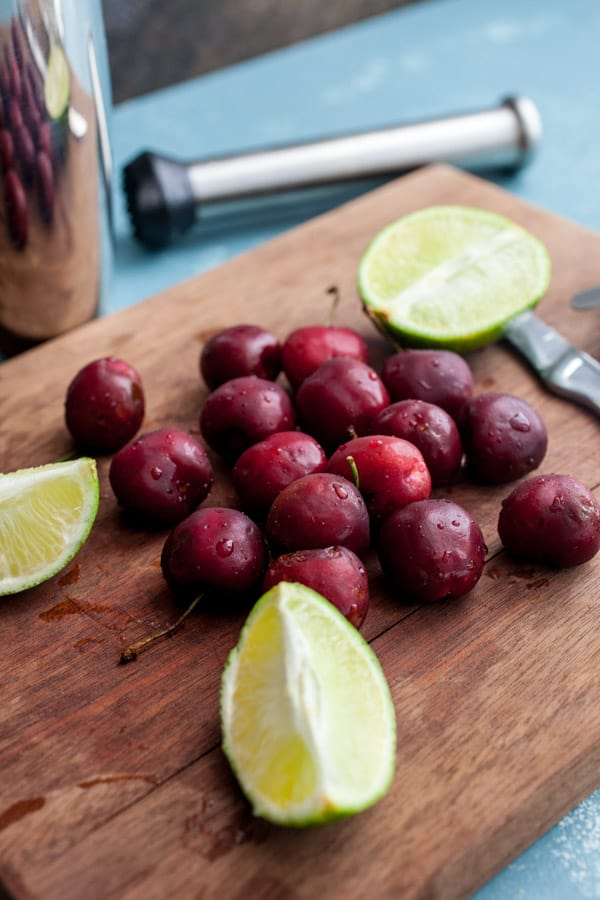 Cherries and Limes - Cherry Lime Rickey Cocktails