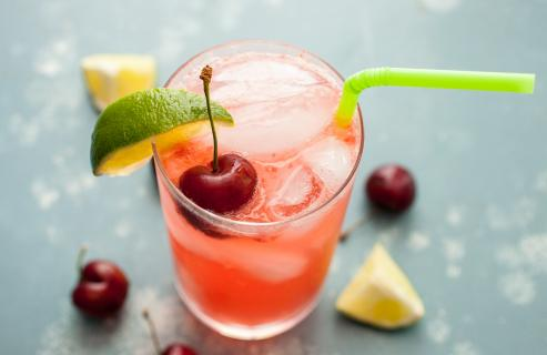Adult Cherry Lime Rickeys