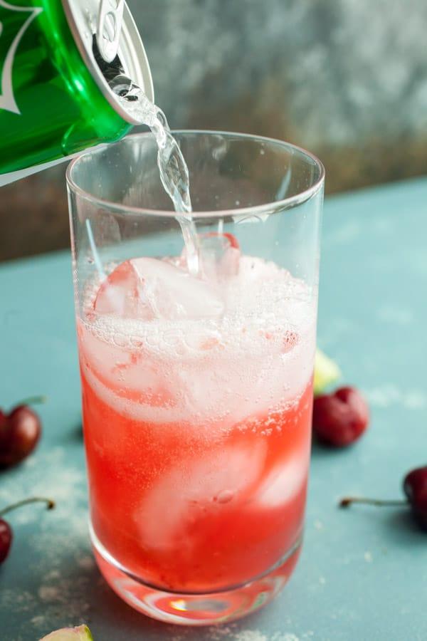 Soda add - Cherry Lime Rickey Soda