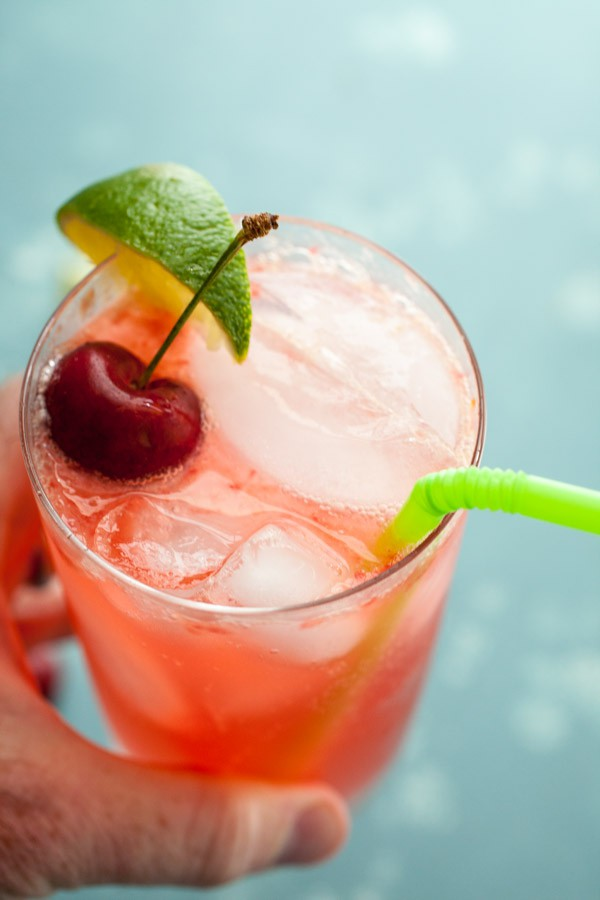 Adult Cherry Lime Rickey Cocktail