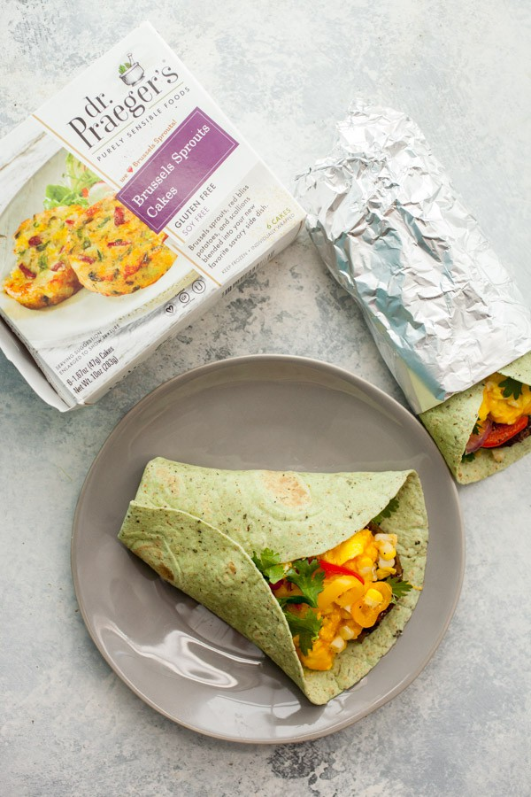 Brussels Sprouts Breakfast Burritos
