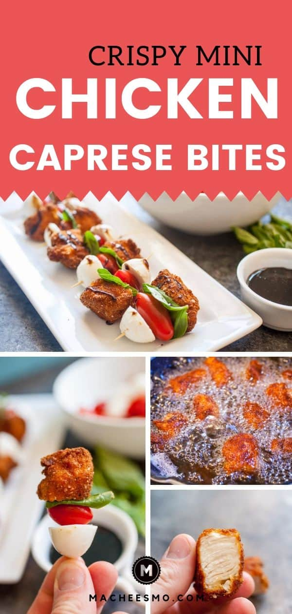 Crispy Chicken Caprese Bites