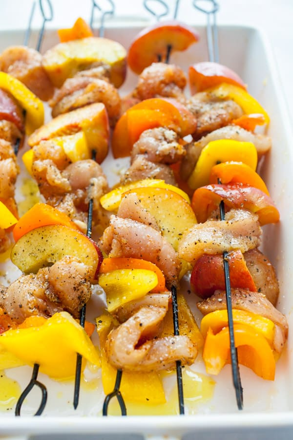 Chicken Peach Kebabs