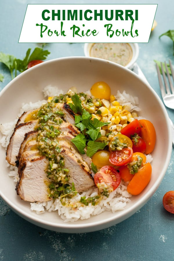 Chimichurri Pork Rice Bowls